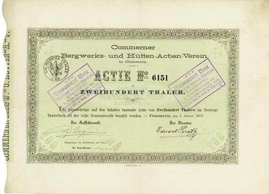 Commerner Bergwerks- und Hütten-Actien-Verein in Commern