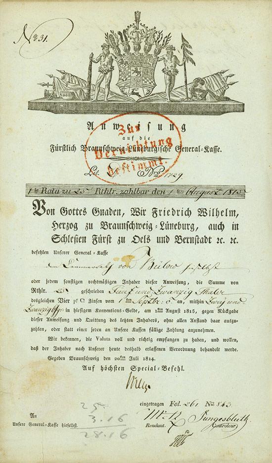 Fürstlich Braunschweig-Lüneburgische General-Kasse