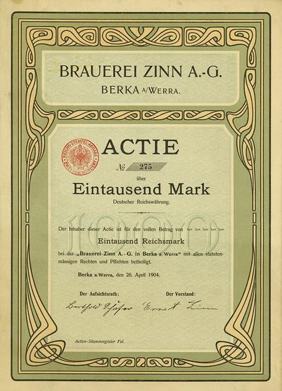 Brauerei Zinn A.-G.