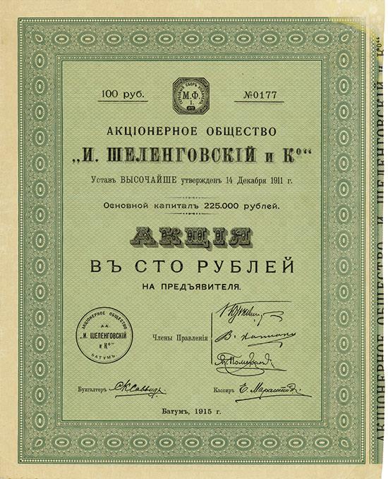Aktien-Gesellschaft I. Schelengowski & Co.