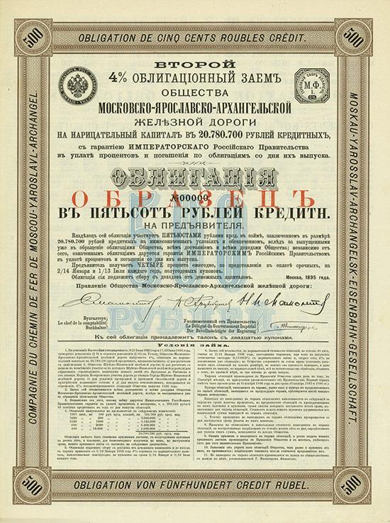 Moskau-Yarosslav-Archangelsk-Eisenbahn-Gesellschaft