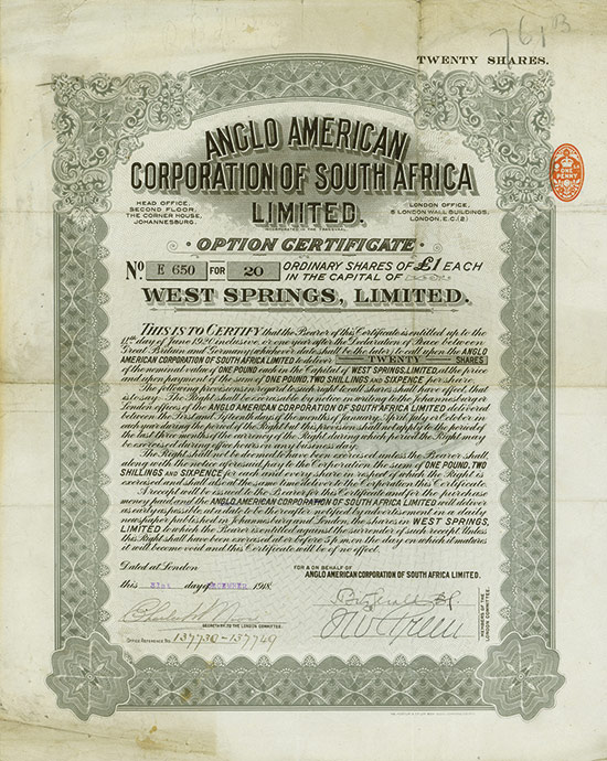 Anglo American Corporation of South Africa Limited