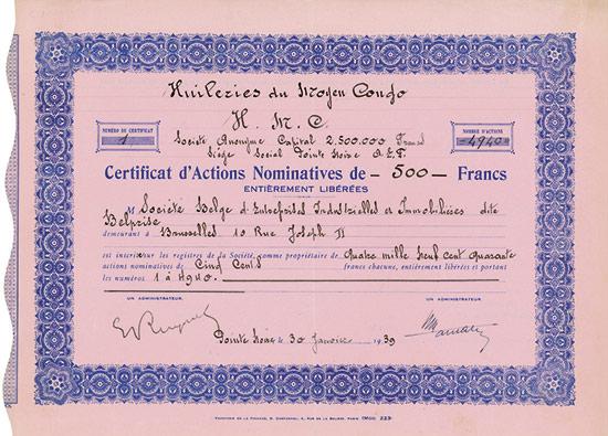 Huileries du Moyen Congo H. M. C.