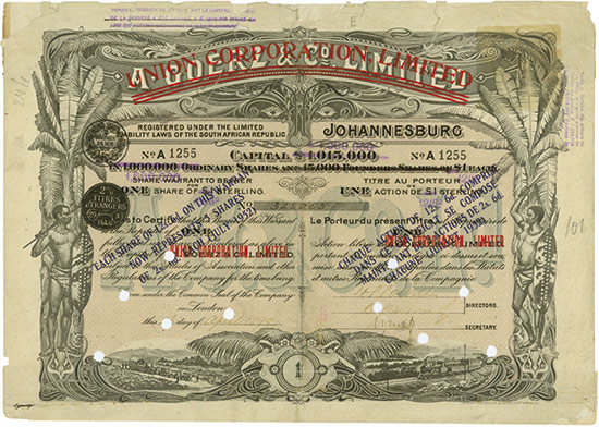 Union Corporation, Limited (A Goerz & Co. Limited)