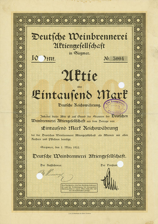 Deutsche Weinbrennerei AG