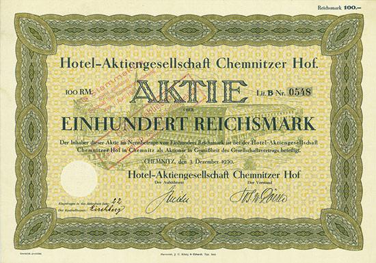 Hotel-Aktiengesellschaft Chemnitzer Hof