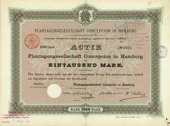 Plantagengesellschaft Concepcion in Hamburg