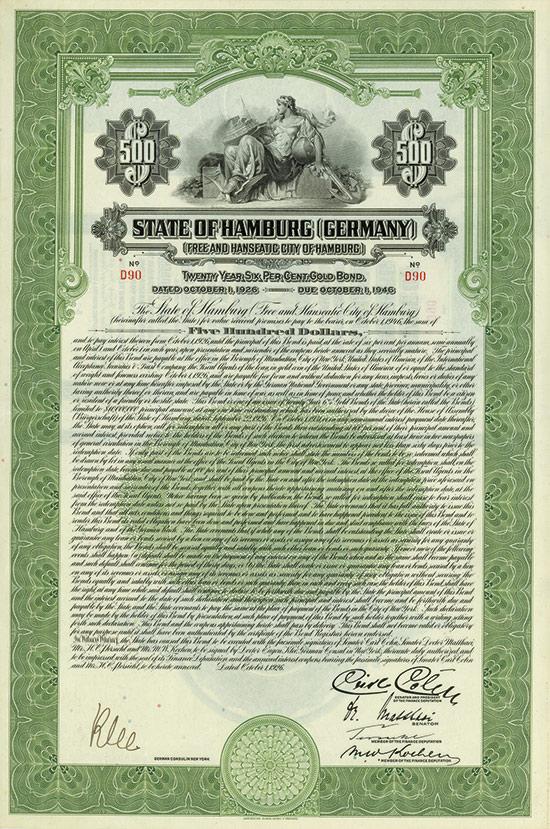 State of Hamburg (Free and Hanseatic City of Hamburg)
