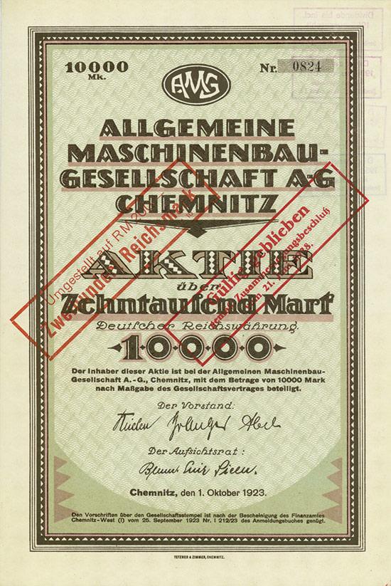 Allgemeine Maschinenbau-Gesellschaft AG