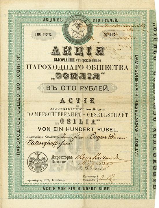 Dampfschifffahrt-Gesellschaft Osilia