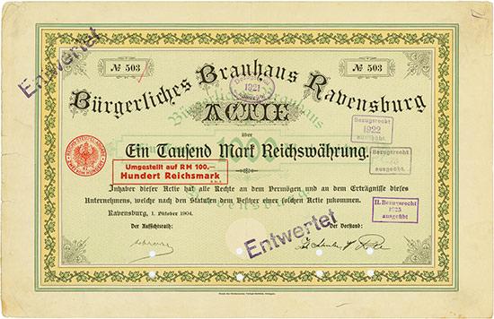Bürgerliches Brauhaus Ravensburg