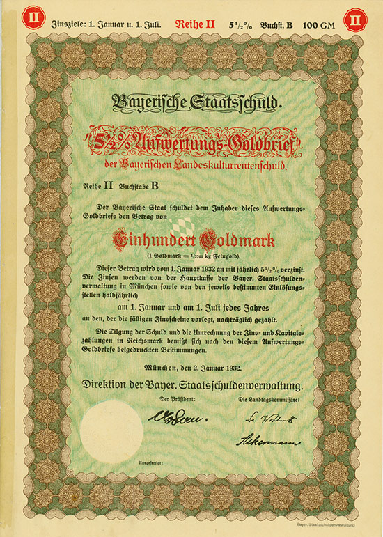 Bayer. Staatsschuldenverwaltung - Landeskulturrentenschuld