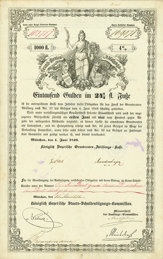 Königlich Bayerische Grundrenten-Ablösungs-Kasse