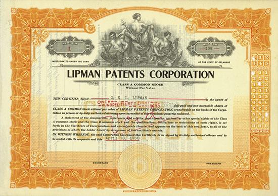 Lipman Patents Corporation