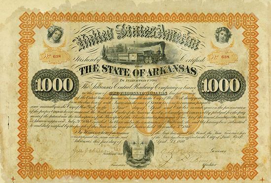State of Arkansas / Arkansas Central Railway Company