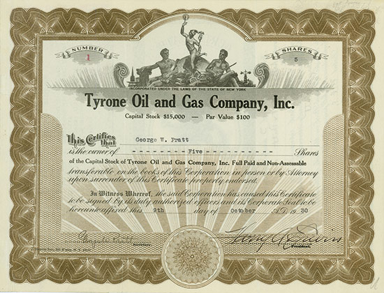 Tyrone Oil and Gas Company, Inc.