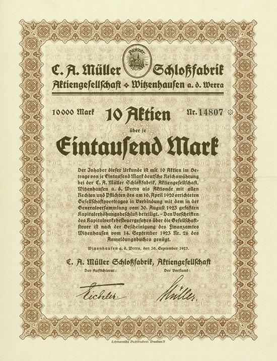 C. A. Müller Schloßfabrik AG