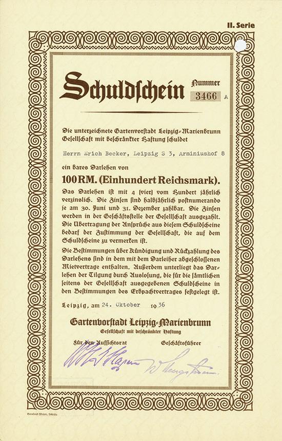 Gartenvorstadt Leipzig-Marienbrunn GmbH