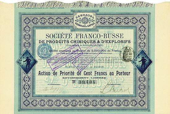Société Franco-Russe de Produits Chimiques & d'Explosifs (Établissements de Kowanko-Barbier)