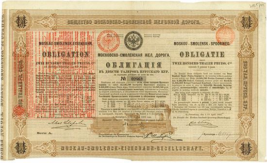 Moskau-Smolensk-Eisenbahn-Gesellschaft [3 Stück]