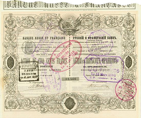 Banque Russe et Francaise