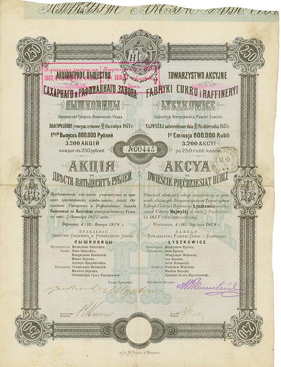 Actien-Gesellschaft der Zucker-Fabrik & Raffinerie