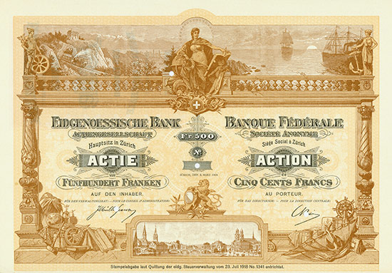 Eidgenoessische Bank AG / Banque Fédérale Société Anonyme