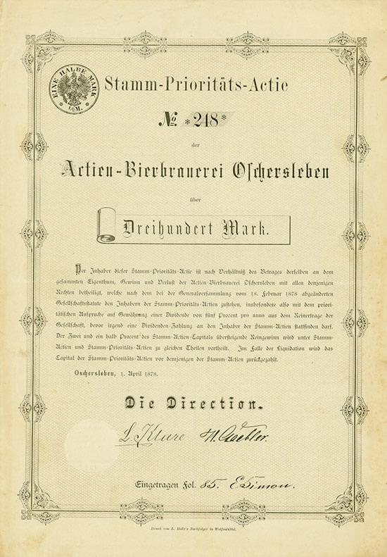 Actien-Bierbrauerei Oschersleben