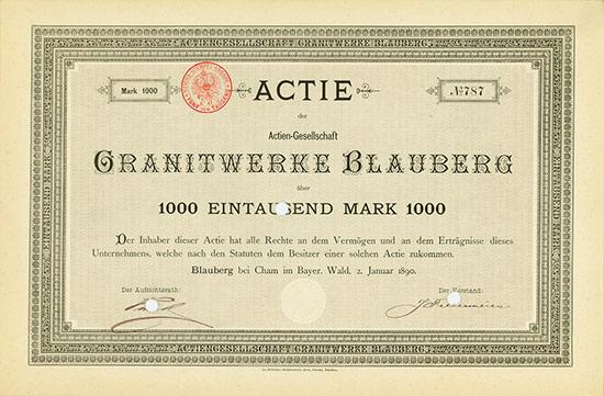 Actien-Gesellschaft Granitwerke Blauberg [Multiauktion 5]