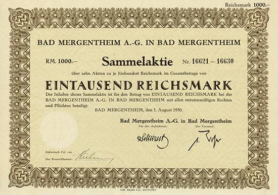 Bad Mergentheim AG