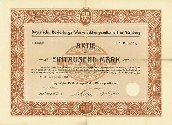 Bayerische Bekleidungs-Werke AG