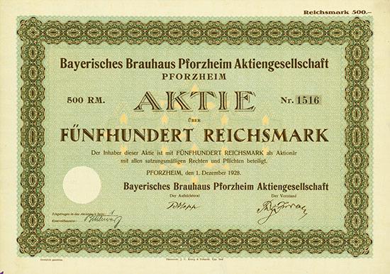 Bayerisches Brauhaus Pforzheim AG