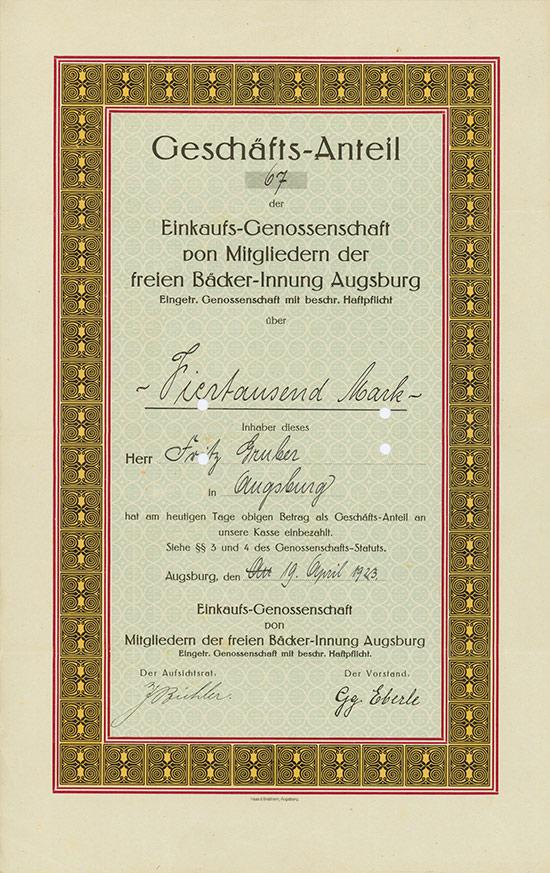 Einkaufs-Genossenschaft von Mitgliedern der freien Bäcker-Innung Augsburg eGmbH