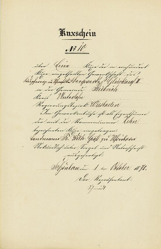 Gewerkschaft des Kupfererz- und Schwefelkiesbergwerkes Glückauf II
