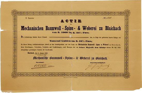 Mechanische Baumwoll-Spinn- & Weberei zu Blaichach