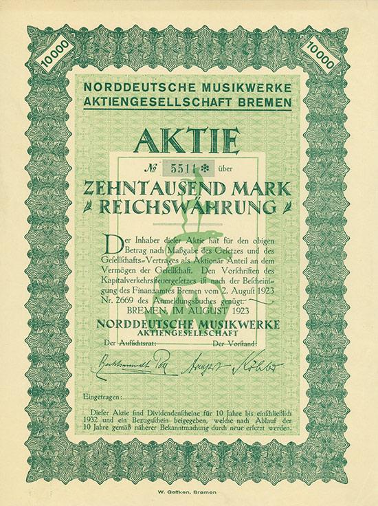 Norddeutsche Musikwerke AG [MULTIAUKTION 11]