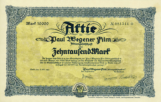 Paul Wegener Film AG [MULTIAUKTION 4]