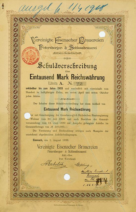 Vereinigte Eisenacher Brauereien Petersberger- & Schlossbrauerei AG