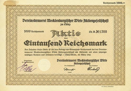 Vereinsbrauerei Mecklenburgischer Wirte AG