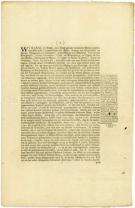 Kaiser Karl VI. (Schlesische Anleihe)