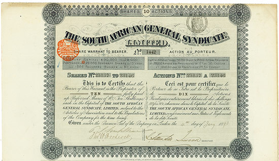 South African General Syndicate Limited