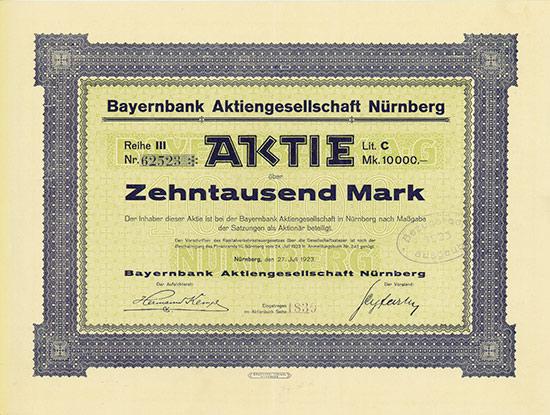 Bayernbank AG Nürnberg