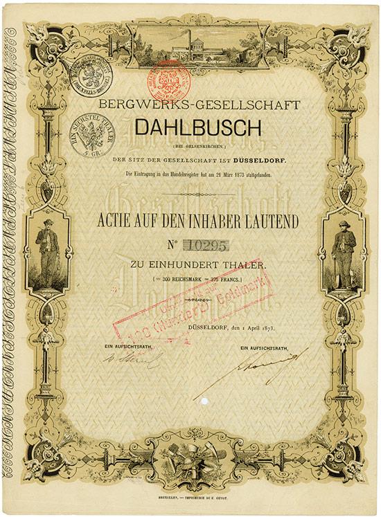 Bergwerks-Gesellschaft Dahlbusch (bei Gelsenkirchen)