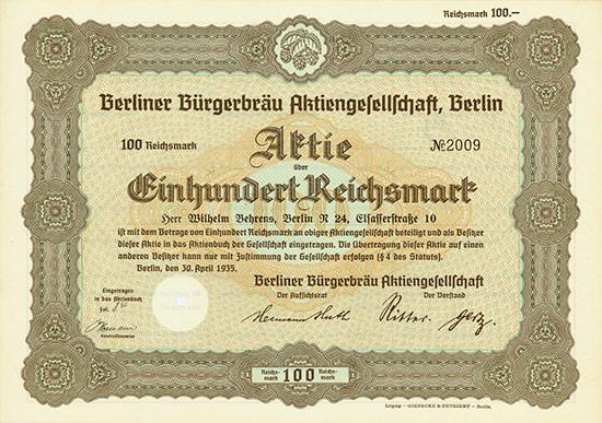 Berliner Bürgerbräu AG
