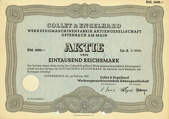 Collet & Engelhard Werkzeugmaschinenfabrik AG