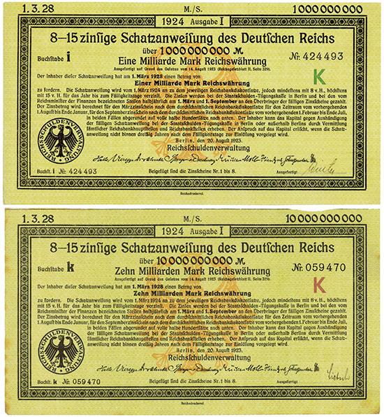 Deutsches Reich [2 Stück]