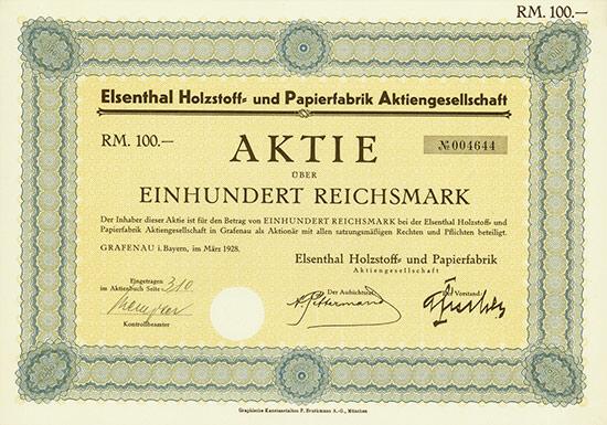 Elsenthal Holzstoff- und Papierfabrik AG