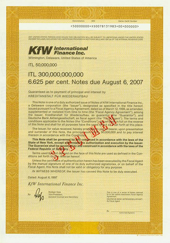 KfW International Finance Inc.