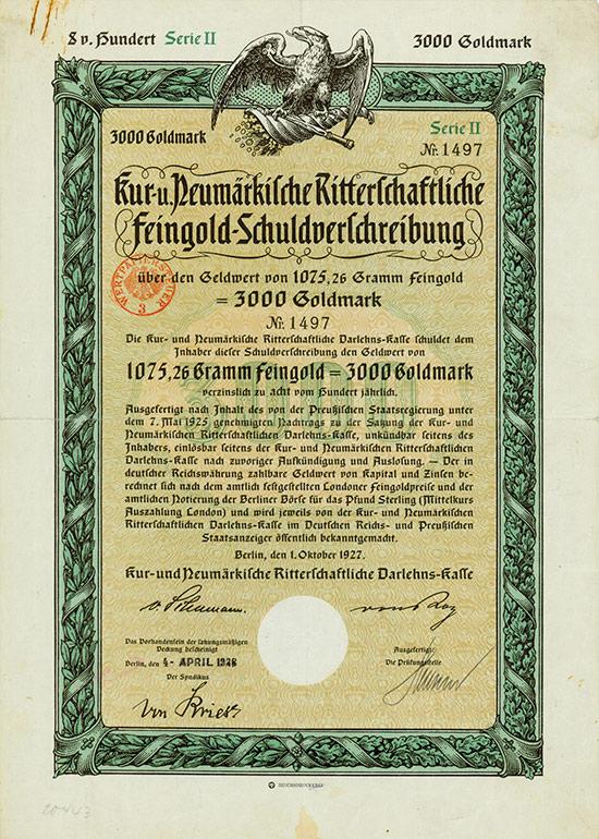 Kur- und Neumärkische Ritterschaftliche Darlehns-Kasse