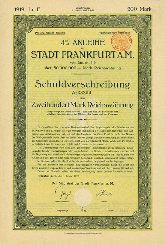 Stadt Frankfurt a. M.
